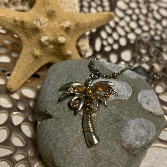 Vintage- Betsey Johnson Palm Tree Necklace